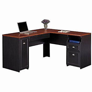 20 Beautiful Black L Shaped Desk with Hutch Graphics