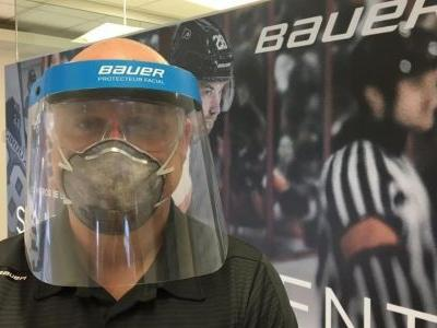 Bauer Hockey to make visors to help those on the front lines of the fight against the coronavirus