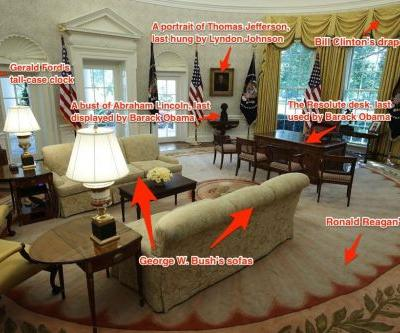 Trump decorated the Oval Office with hand-me-downs from past presidents - here's exactly what he's used, from which of his predecessors