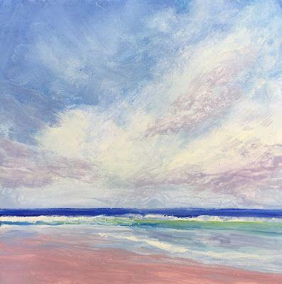 """Contemporary Beach Landscape, """"Serenity,"""" by Amy Whitehouse"""
