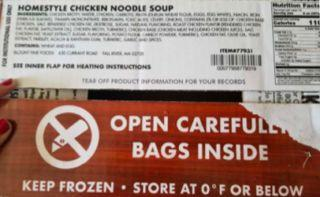 Ready-To-Eat Chicken Soup recalled for misbranding and undeclared allergen