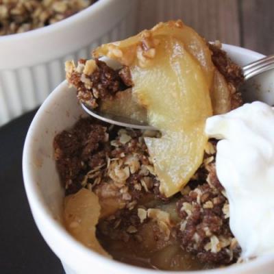 Gluten Free Apple Crisp For One