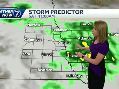 A rainy morning, with storm chances through the weekend