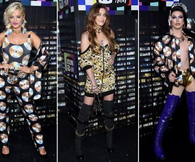 Stars go all out to fête Moschino x H&M