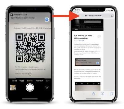 IOS 11 QR Code Vulnerability in Camera App Could Lead Users to Malicious Websites