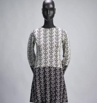 """Peace"" DressMarsha Fox for Alvin Duskin Company 1967Fine Arts"