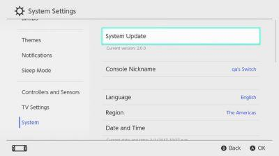Switch - Firmware update 3.0.0 now available
