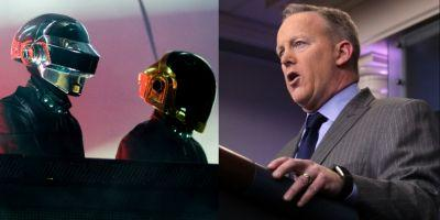 "Trump Press Secretary Sean Spicer Once Tweeted ""Daft Funk"" Should ""Grow Up,"" Get Rid of Helmets"