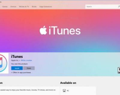 Apple iTunes is now available on the Microsoft Store