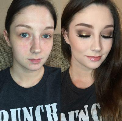 People Are Going Crazy Over This Before-And-After Makeup Photo