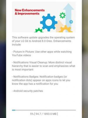 Verizon Starts Rolling Out Android 8.0 Oreo To LG G6