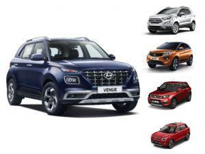 Hyundai Venue vs Ford Ecosport vs Tata Nexon vs Maruti Vitara Brezza vs Mahindra XUV300 Spec Comparison