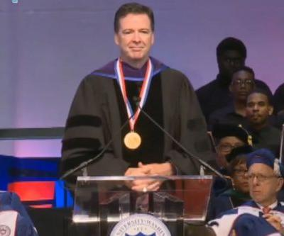 Protesters shout over Comey's speech at Howard University
