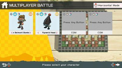 Free Super Bomberman R Update Adds Simon Belmont And Pyramid Head As Playable Characters