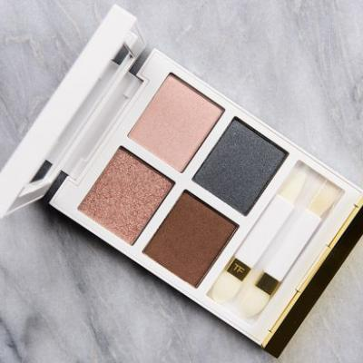 Tom Ford White Suede Eye Color Quad Review & Swatches