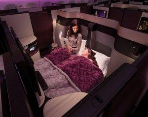 Qatar Airways introduced world's first double beds in business class