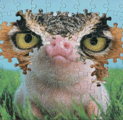 Vintage Jigsaw Puzzles Blended Piece-by-Piece into Surreal Montages by Tim Klein