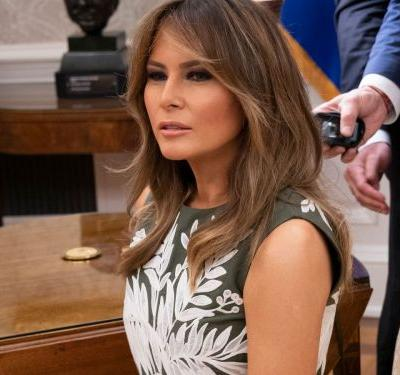 Melania Trump Sitting Alone On A Couch Perfectly Illustrates How She's Helping Kids