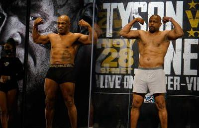 Mike Tyson and Roy Jones Jr comeback fight declared a DRAW as ageing legends meet in Los Angeles