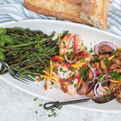 Herb Grilled Salmon Nicoise Salad