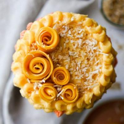 Coconut Cake with Mango Buttercream