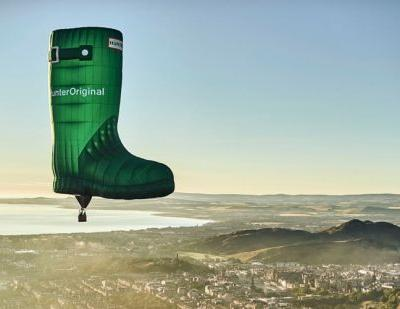 In Pictures: Hunter launches first flying welly
