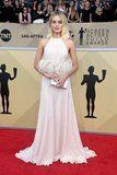 Margot Robbie Looks Like a Figure Skater at the SAG Awards and We Love It