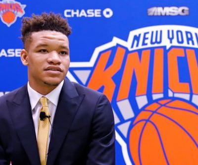 Kevin Knox's goal for first Knicks season posted on bedroom wall