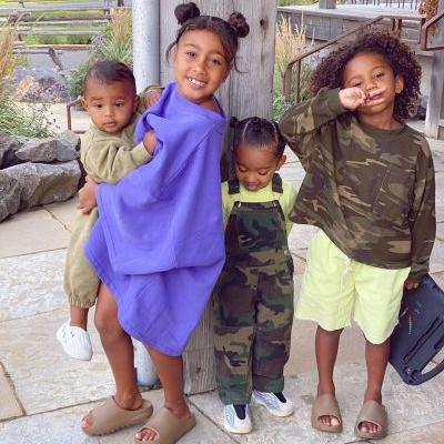 Kim Kardashian Shares Precious Photos of Her Kids and Husband Kanye West: 'How Did I Get So Lucky?'