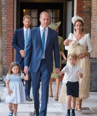 Royal family celebrates christening of Prince Louis