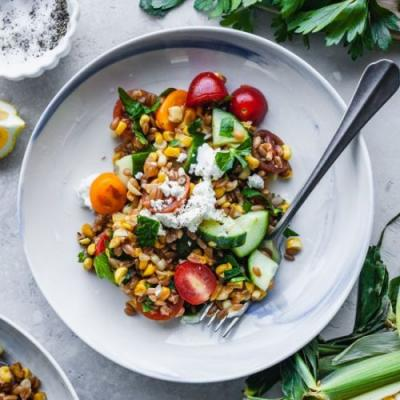Skillet Corn And Farro Salad