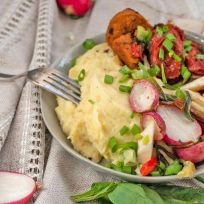 Healthy Vegan Mashed Potato Bowl