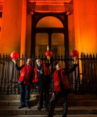 Ireland sees red! Buildings light up in red to celebrate Chinese New Year