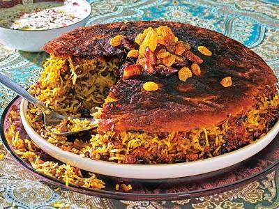 Persian Lentil Rice with Lavash Tahdig