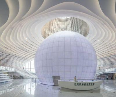 Photos of the New Futuristic Library in China with 1.2 Million Books