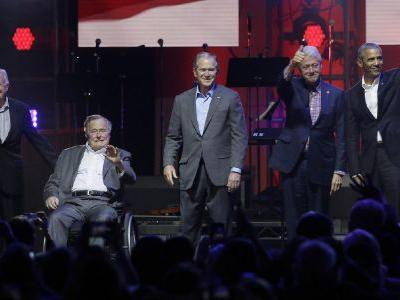Five ex-presidents and Trump champion unity, volunteerism at hurricane relief concert