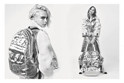 Lily-Rose Depp and Cara Delevingne Star In Space Age Chanel Campaign