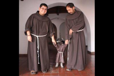 "Dog Named ""Friar Mustache"" Is A Real-Life Bolivian Monk"