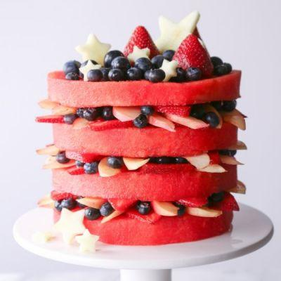 Fresh Watermelon Layer Cake