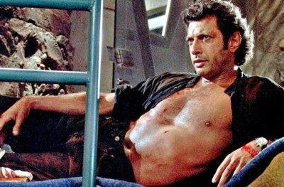 Shirtless Jeff Goldblum Statue Lands in London for Jurassic Park