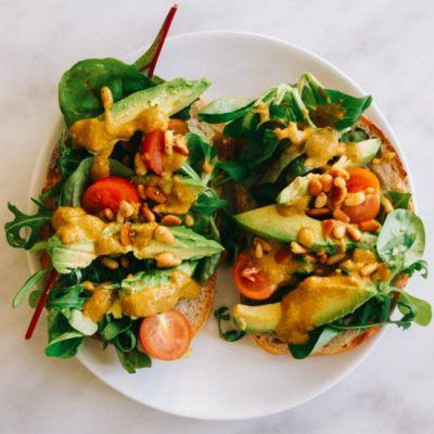 Tomato Pesto Sandwich with Toasted Pinenuts