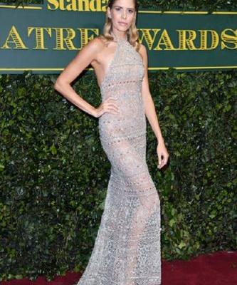 Lena Perminova was stunning in GEORGES HOBEIKA for the Evening