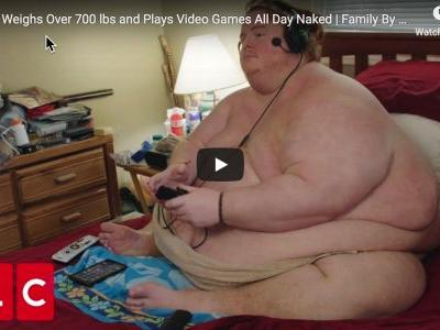 A Metaphor For America: 700 Pound Man Plans To Eat And Play Video Games While Naked Until He Dies
