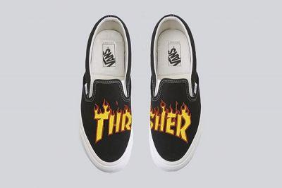 A Pair of Thrasher x Vans Collaborative Sneakers Surface Online