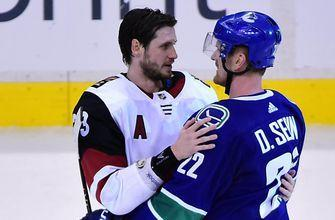 Coyotes undone as Sedin twins combine on OT winner in final home game