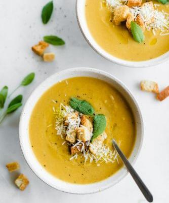 Roasted Artichoke and Butternut Squash Soup
