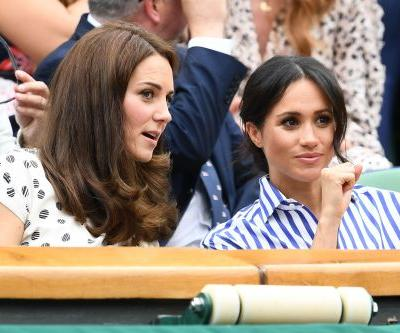 Just A Bunch Of Pictures Of Meghan Markle And Kate Middleton Awkwardly Interacting