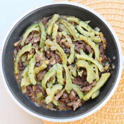 Bitter melon with Black Beans