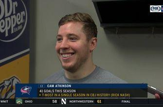 Cam Atkinson isn't done after tying Rick Nash's single-season franchise record for goals scored
