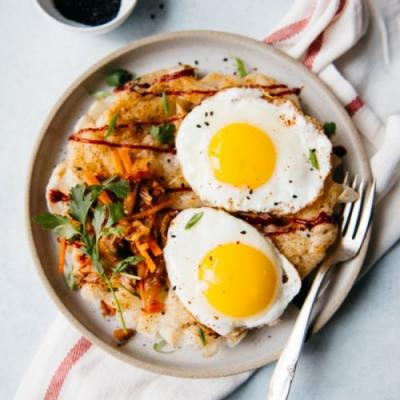 Pan-Fried Rice Noodles & Fried Eggs
